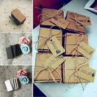 Внешний вид - 100Pcs Kraft Paper Rectangle Hang Tags Wedding Party Favor Label Price Card Gift