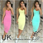 UK Womens Bodycon Pencil Cocktail Evening Ladies Summer Party Dress Size 6 - 14