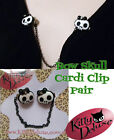 Skull Bow Cardigan Clips by Kitty Deluxe also for Hair