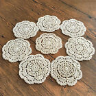 4/SET 8/SET 4'' Round Handmade Cotton Crochet Lace Doilies Coaster Placemat A01
