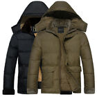 Mens Coat Winter THICKEN Jacket Casual Clothing Hoodie Outddor Hooded Parka TOPS