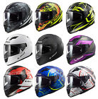 LS2 FF320 STREAM LUX WIND BANG LUNAR STEEL FULL FACE MOTORCYCLE SCOOTER HELMET