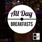 CAFE COFFEE WINDOW DECAL STICKERS CIRCLES RANGE. This One - ALL DAY BREAKFASTS