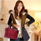 New lady women Leather Handbags Shoulder Messenger Bags Satchel Tote Purses Bags