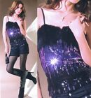 Sexy Ladies Cocktail&Casual Party Dance Bling Body Shape Singlet Top 6-10 7088