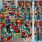 "Marvel Comics Strike Single Duvet & Matching Curtains 54"" or 72"" Drop Bed Set"
