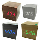Modern Wood Wooden  USB/AAA  LED Digital  Alarm Clock