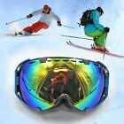 UNISEX Adults Snow Snowmobile Snowboard SKI UV GOGGLES Windproof Anti Fog Sports