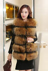 Real Vintage Raccoon Fur Vest Gilet Waistcoat Coat Jacket Clothing Ladies Grand