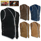 HighRanger Men Motorbike Suede Leather Special Braided Vests for Men