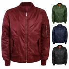 MENS MA1 FLY PILOT ARMY MILITARY SECURTY BOMBER DOORMAN HARRINGTON BIKER JACKET