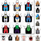 Women Men Waterproof Kitchen Bib Aprons Comic Superhero Costume Apron Funny Gift