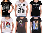 Justin Bieber T Shirt purpose tour photo logo new Official womens skinny fit