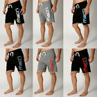 Mens Macri Logo Athletic Gym Shorts Fleece RAW EDGE BodyBuilding Training