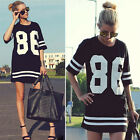 Womens New Short Sleeve Summer Pullover Hoody Shirts Sweater BLACK Sports Wear