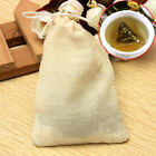 Hot 10/50/100Pc Cotton Muslin Drawstring Reusable Bags for Soap Herbs Tea 8x10cm