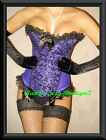 Corset Top Shaper Lace Up Back Burlesque Photo Shoot Ships from NY Size S - 2XL