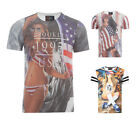 Mens Dissident T-Shirt Crew Neck Short Sleeve Sexy US Flag Vintage Tee Top Shirt