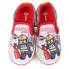 Oxford Lego Fire Man Slip-On Red Comfortable Canvas Kids Boys Sneakers