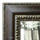 West Frames Florence Distressed Black Gold Framed Wall Mirror