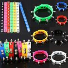 Canday Color Punk Spike Rivet Rubber Stainless Steel Buckle Cuff Bracelet Bangle