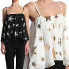 TheMogan Sequined Star Draped Ruffle Flutter Tank Top SWING CAMISOLE