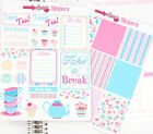 2 x Time For Tea Shabby Chic - Personal Planner Stickers Erin Condren Organiser