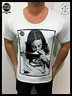 MENS new MID-DEEP SCOOP NECK FASHION T SHIRT cocaine RETRO order sexy club top