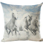 Lovely Cat Deer Horse Star Sea Cotton Linen Pillow Cases Sofa Car Cushion Covers