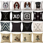 Alice in Wonderland Dog Cotton Linen Pillow Cover Cushion Cover Pillow Protector