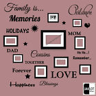 FAMILY IS Words Wall Art Quote - Vinyl Stickers for Picture Frames TYPE 2