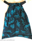 NEW Ex Next Girls Summer Tunic Sun Dress Sundress Blue Dinosaur 1, 2 or 4 years
