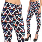 TheMogan Chevron Triangle Printed Pull On Stretch Ankle Leggings