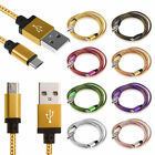 1M/2M/3M Micro USB 2.0 Charger Braided Fast Data Sync Charger Cable for Android