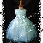 SPB5 Baby Girls Wedding Christening Birthday Prom Party Sparkle Summer Sun Dress