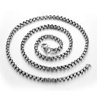 High Quality Silver Polished Stainless Steel Men & Women Rolo Chain Necklace New