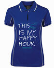 "***HEELS DOWN CLOTHING***LADIES  COOLDRI ""HAPPY HOUR"" POLO ALL SIZES AVAIL.."