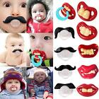 Useful Funny Teeth Mustache Baby Infant Pacifier Orthodontic Dummy Nipples New