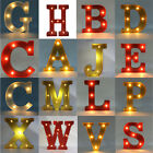 12'' Metal LED Marquee Letter Lights Vintage Circus Style Alphabet Light Up Sign