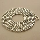 """4MM WIDTH 925 STERLING SILVER EP CUBAN CHAIN NECKLACE 18"""",  20"""" , 24"""" INCH"""