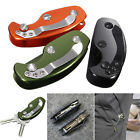 Внешний вид - Aluminum Key Holder Organizer Clip Folder Keyring Keychain Case Pocket Tool US