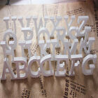 NEW Home Decor Decoration Thick Wood Wooden White Letters Alphabet Wedding