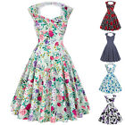 Women's 1950's 1960's Ladies Vintage Dancing Retro Cocktail Party Swing Dress