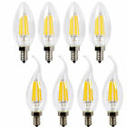 Dimmable E12  LED Filament Candelabra Light Bulb Chandelier flame/bullet tips