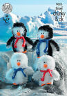 King Cole - PENGUINS 9025 - Tinsel Chunky Knitting Pattern - Free P&P