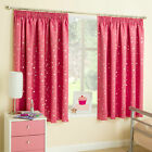 Pink Stars Thermal Blockout Tape Top Girls Curtains For Kids Children's Bedroom