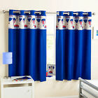 Blue Hot Air Balloon Block Out Thermal Ring Top Curtains For Kids / Boys Bedroom