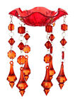 RAZ Imports Red Acrylic Bobeche To Add To Taper Candle Holder-Choice Of Design