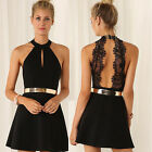 Sexy Women Casual Summer Cocktail Party Evening Backless Lace Short Mini DressLA