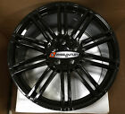 20X9.5 Rims Gloss Black Wheels Tires Fit Porsche Cayenne Turbo GTS Q7 Touareg